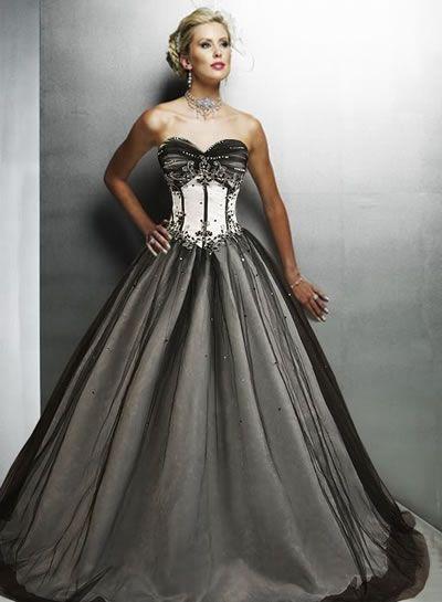gothic corset wedding dresses   Jacqi\'s dream wedding   Pinterest ...