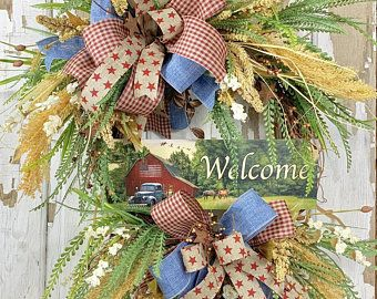 Scarecrow Wreath Tutorial, scarecrow wreath DIY, how to make a decomesh wreath, how to make a scarecrow wreath #scarecrowwreath