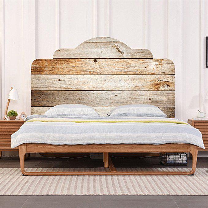AmazingWall Wood Pattern Wall Sticker for Bedroom
