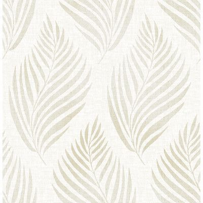 """Brewster Home Fashions For Your Bath III 33' x 20.5"""" Patrice Linen Leaf Wallpaper Roll Color:"""