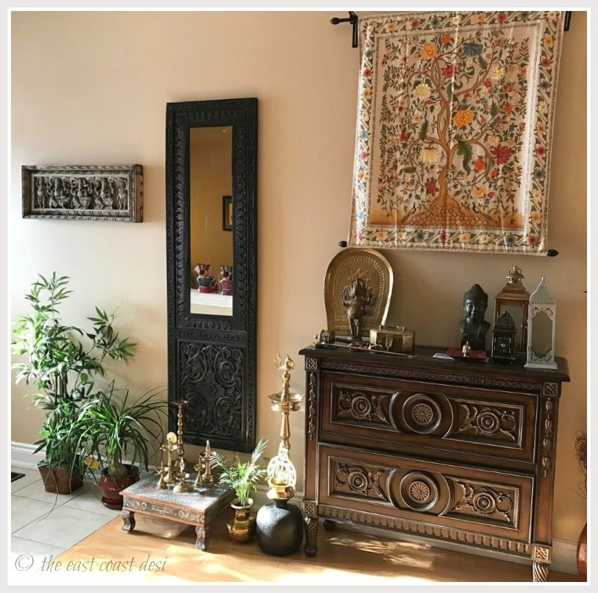 Indian Inspired decor from the home of