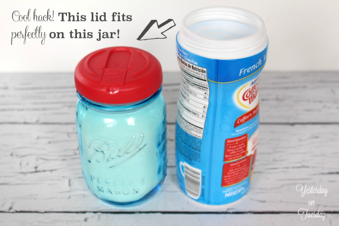 The Lid From Your Coffee Creamer Fits Perfectly On Your Mason Jars