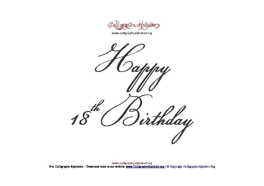 happy 18th birthday sign pdf happy birthday signs birthday letters 20th birthday letter