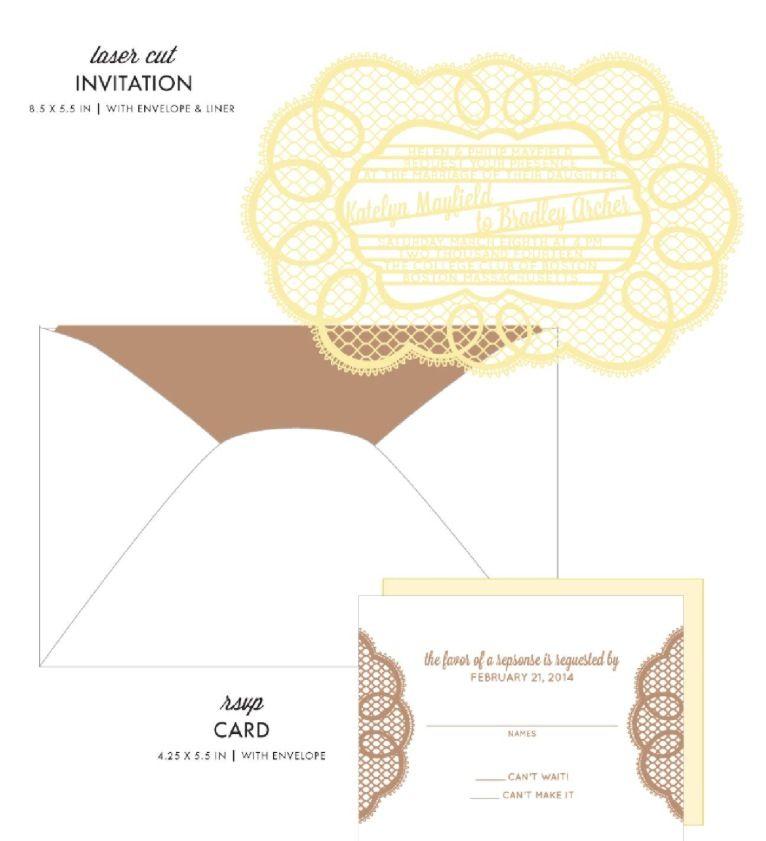 Doily Wedding Invitations by honey-paper.com #wedding #savethedate #aviedesigns #papercuts