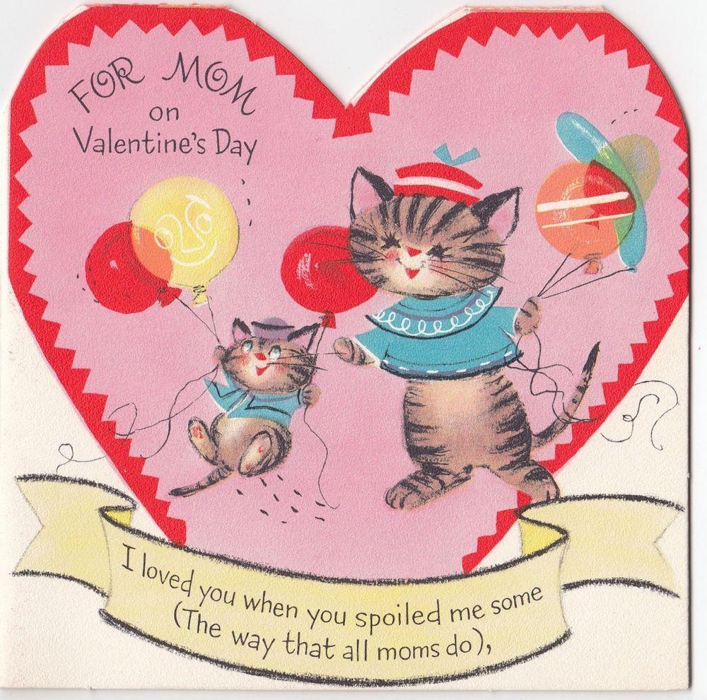 Vintage Greeting Card MultiPage Booklet Cat Kitten