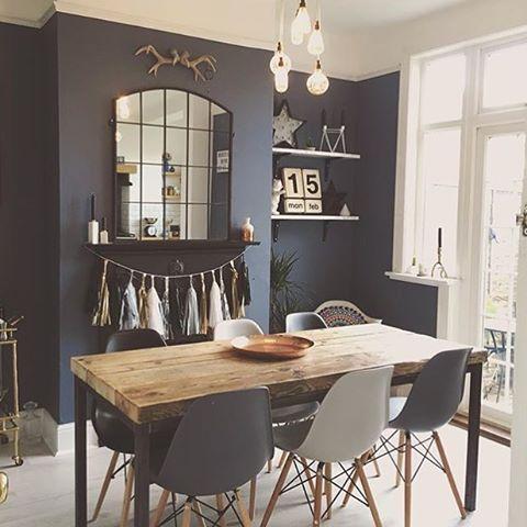 La jolie salle à manger chez @overatkates pour vous souhaiter une