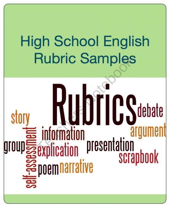 high school english rubric sampler from open classroom on  this rubric sampler includes two ccss aligned writing rubrics including a holistic narrative writing rubric grades and an analytic argumentative writing