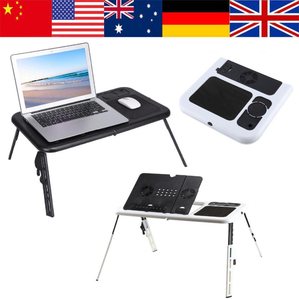 Attractive Wärmeableitung Tragbare Faltbare Einstellbar Laptop Schreibtisch  Computertisch Tischladeschale Für Schlafsofa Schwarz Faltbare Schreibtisch  ...