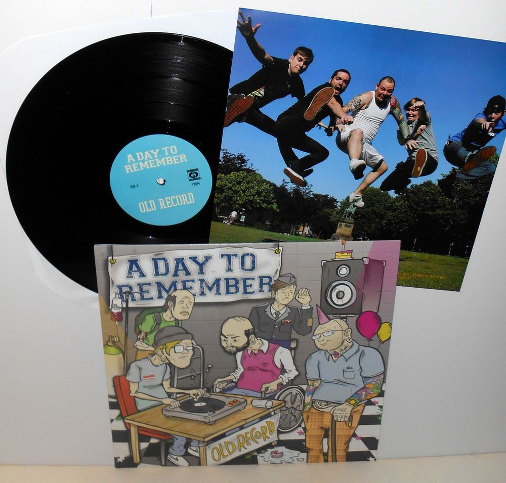 A DAY TO REMEMBER old record LP Record black Vinyl with ... A Day To Remember Old Record