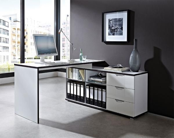 germania contemporary corner desk in high gloss white and matt white rh pinterest com broderick dkbr 800 contemporary corner desk - black contemporary corner desks for home uk