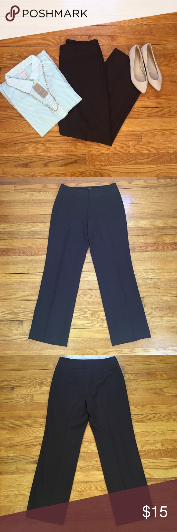 Make me an Offer- Style& Co. Brown Dress Pants Only accepting offers, use the offer button 😀Nwot Style&Co brown stretch dress pants. Size 8 Style & Co Pants