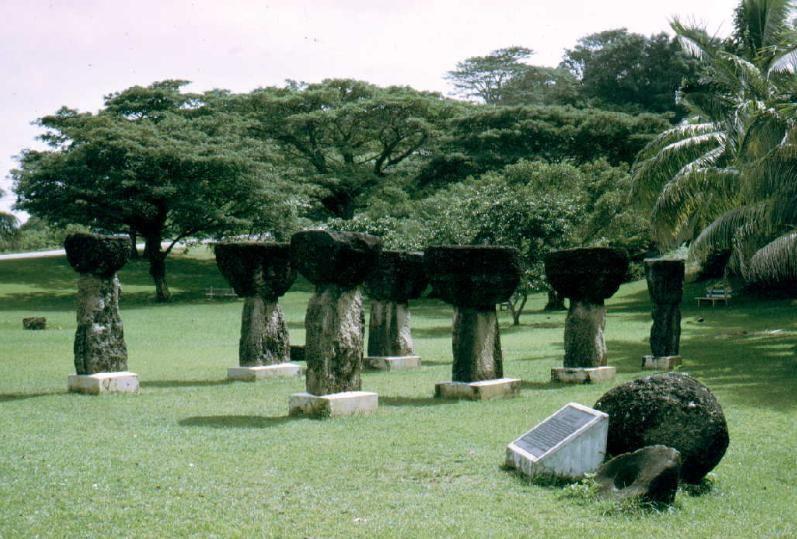 Agana Latte Stone Park Guam Usa Stone Park Guam Island