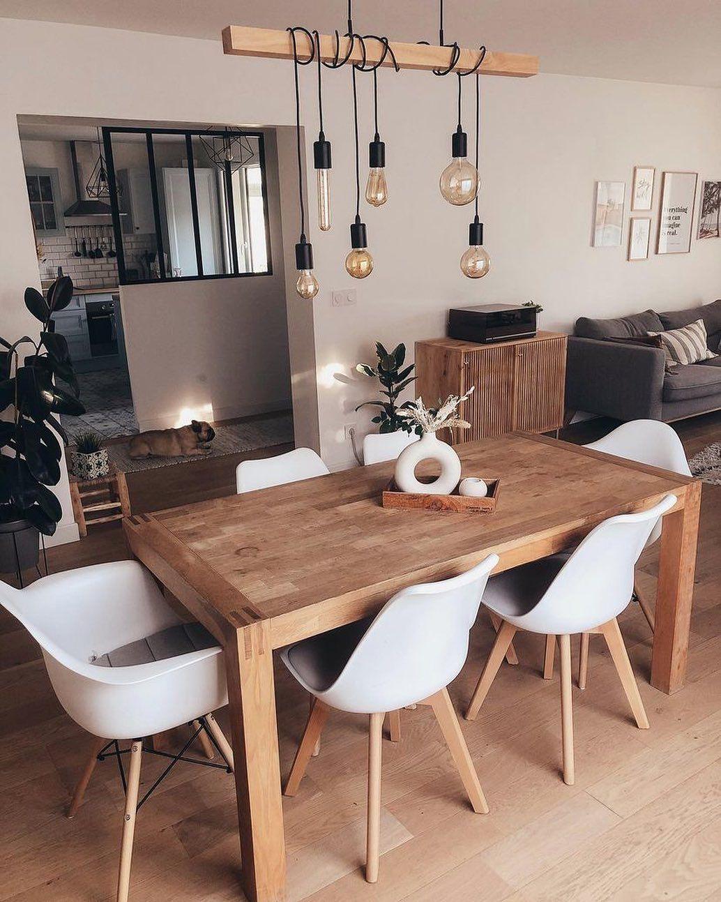 "Interior Inspiration on Instagram: ""Via @myinspiringinterior ✨ The table looks beautiful 😍 Credit: @lucie.home.deco  . . . . .  diningrooms  diningroomtable  diningroomstyle…"""
