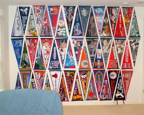 Creative Baseball Flags Wall Decor For Teen Boy