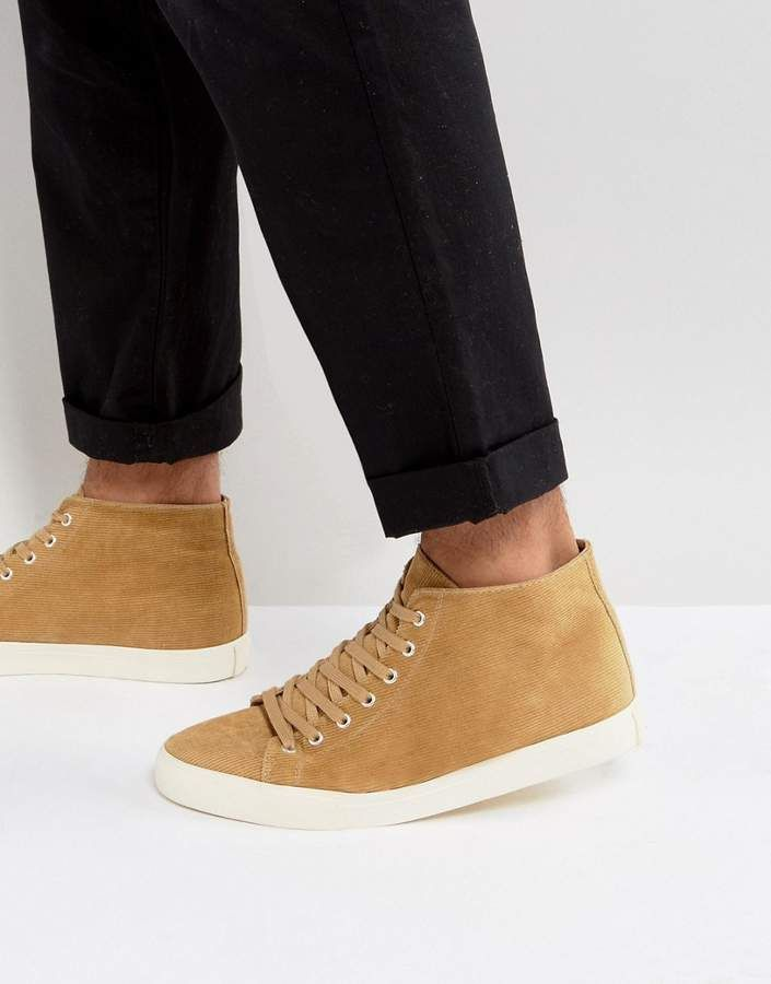 ASOS DESIGN Slip On Plimsolls In Tan Cord free shipping outlet locations f9RAb
