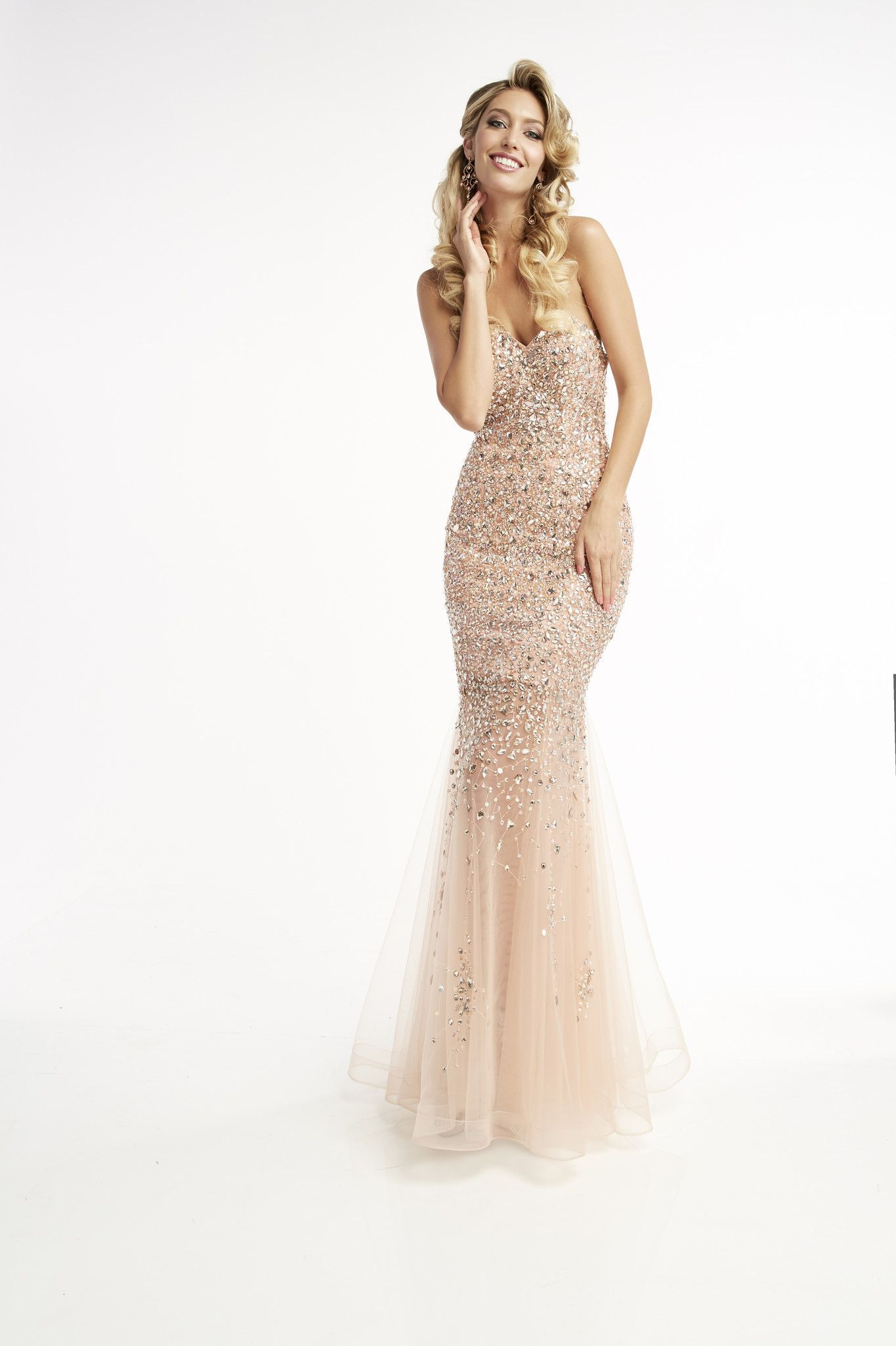 Jasz couture blush strapless prom dress products pinterest