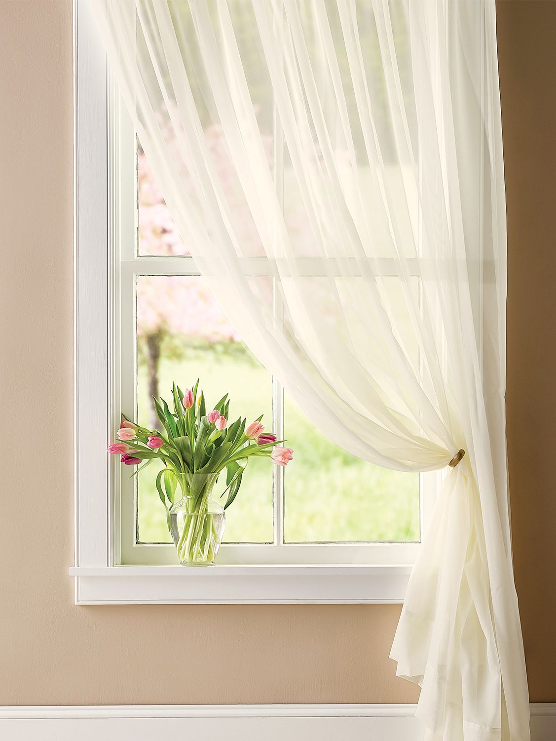 """27 """" Wide Classic Sheers Rod Pocket Panel  Curtains living room"""