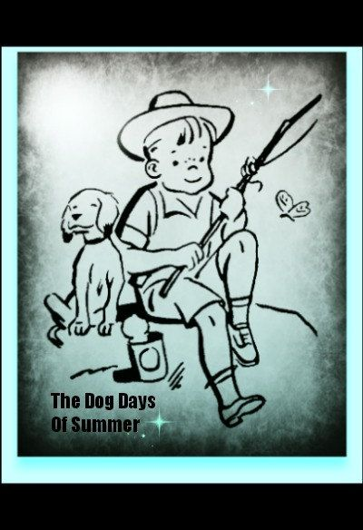 Photograph Blank Greeting Card Fishing Summer Boy Dog by MYSAVIOR, $3.00