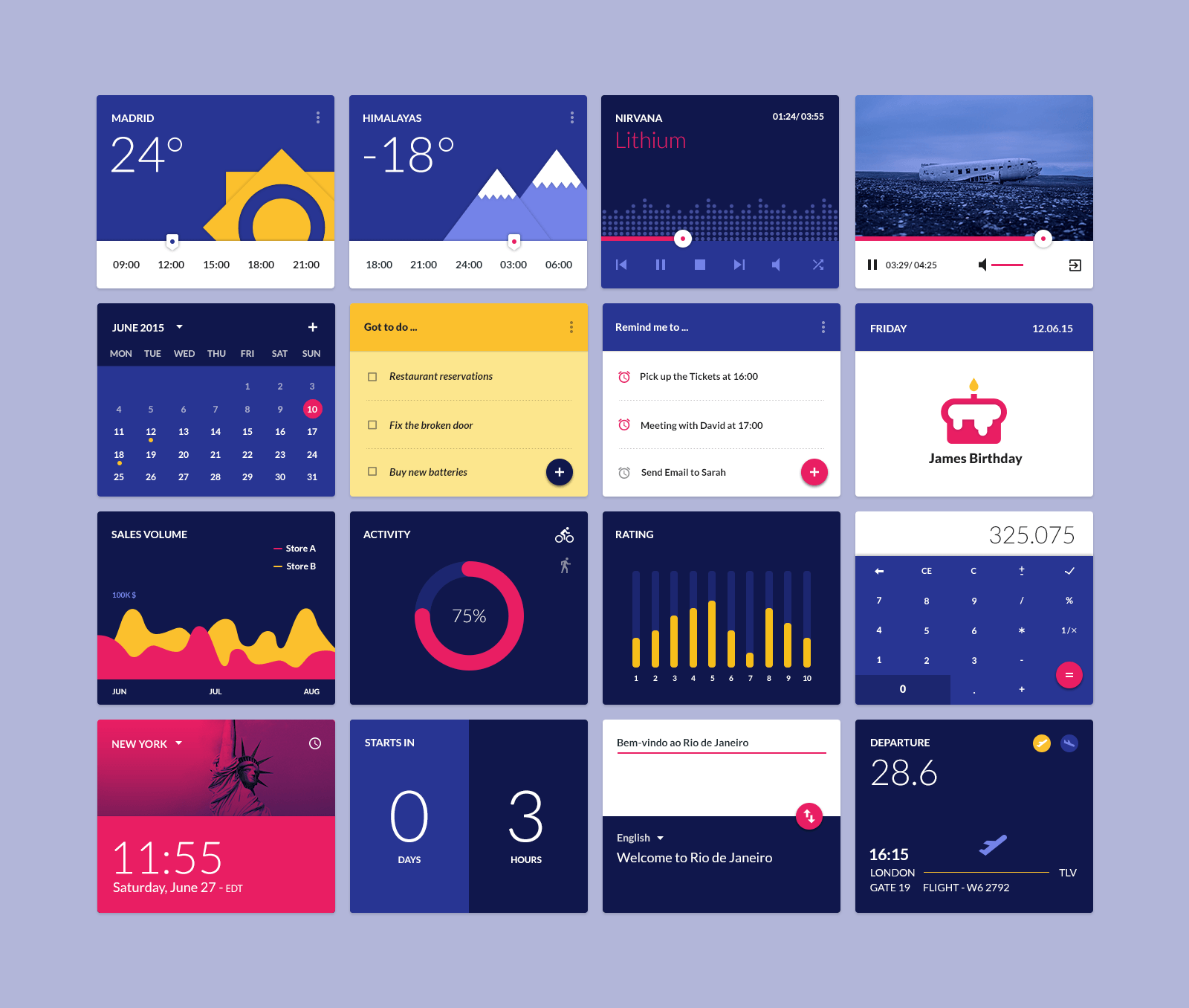 Material Design Widgets UI Kit | Free Fonts | Ui kit