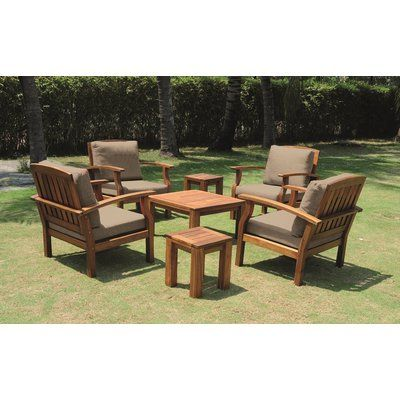 andover mills boveney 7 piece conversation set with cushions rh pinterest com