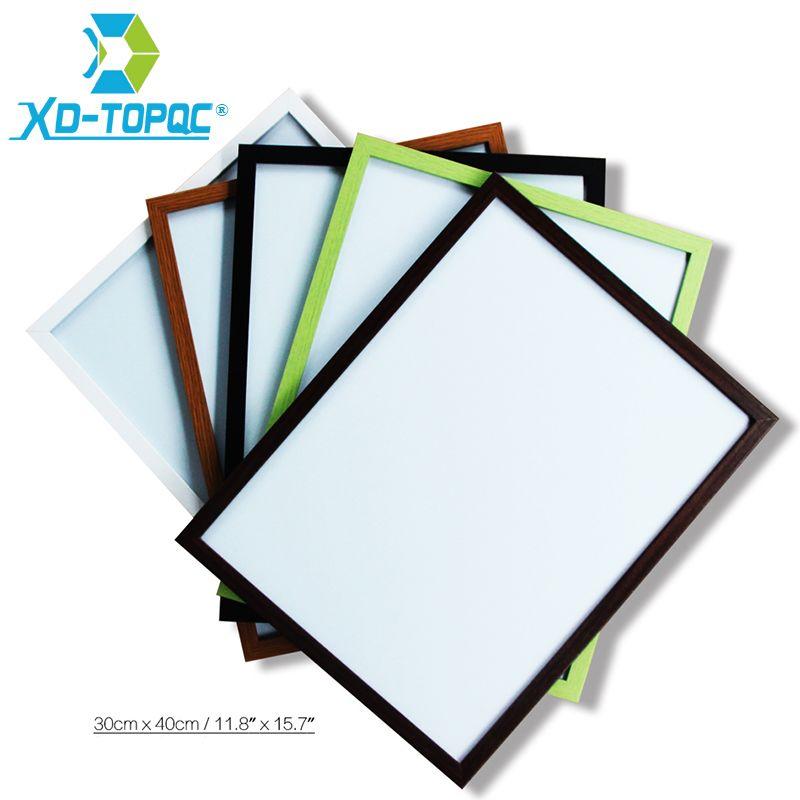 XINDI 30*40cm 10 Colors MDF Magnetic Whiteboard Wood Frame Memo ...