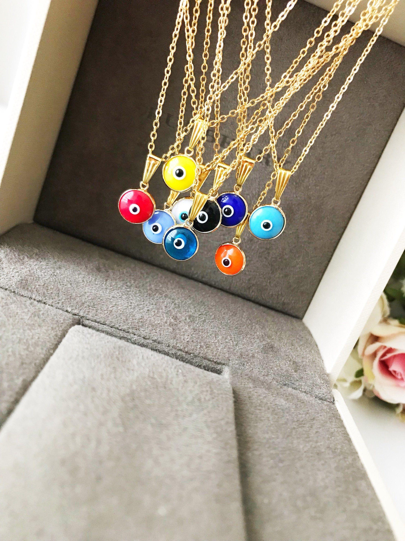 Evil Eye Necklace Turkish Evil Eye Necklace Gold Evil Eye Etsy Evil Eye Necklace Evil Eye Necklace Gold Evil Eye Jewelry