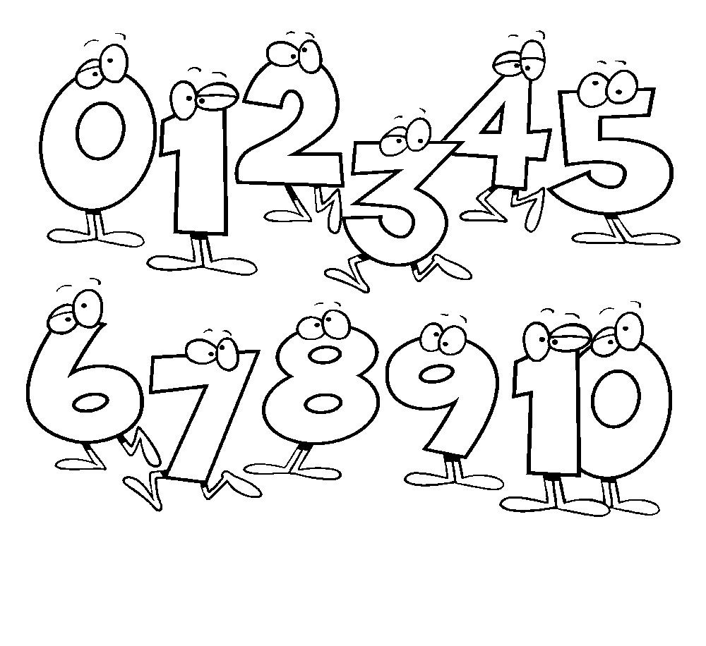 Free Printable Number Coloring Pages For Kids Kindergarten Coloring Pages Preschool Coloring Pages Math Coloring