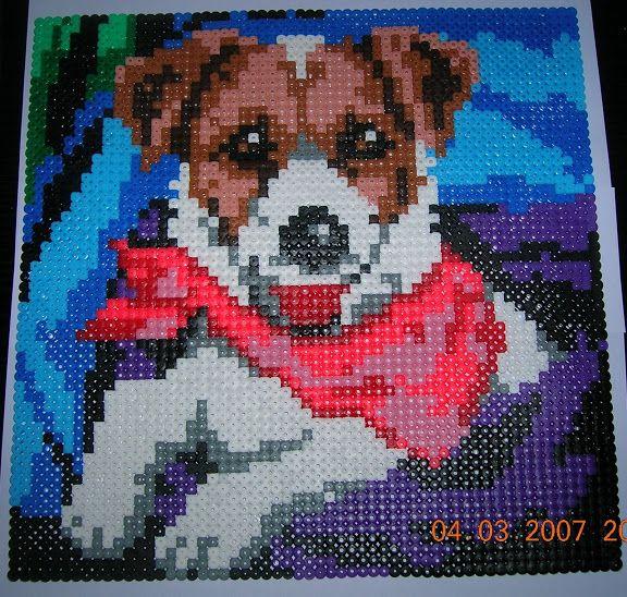 Chien Perles Hama Sandrinette57050 Perler Beads Pinterest