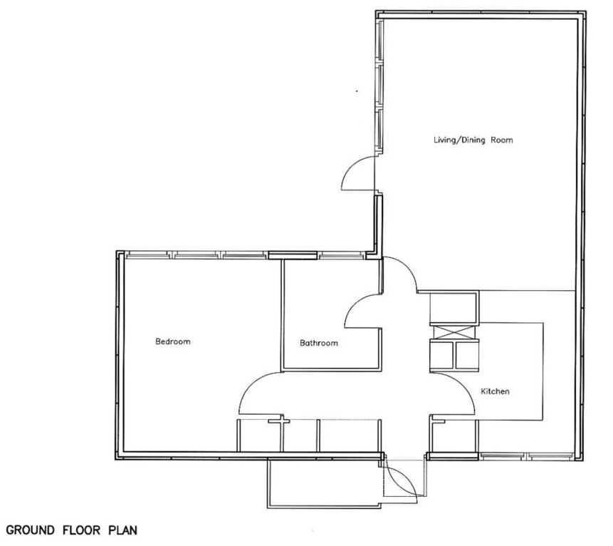 Attirant 1 Bedroom Bungalow Floor Plans