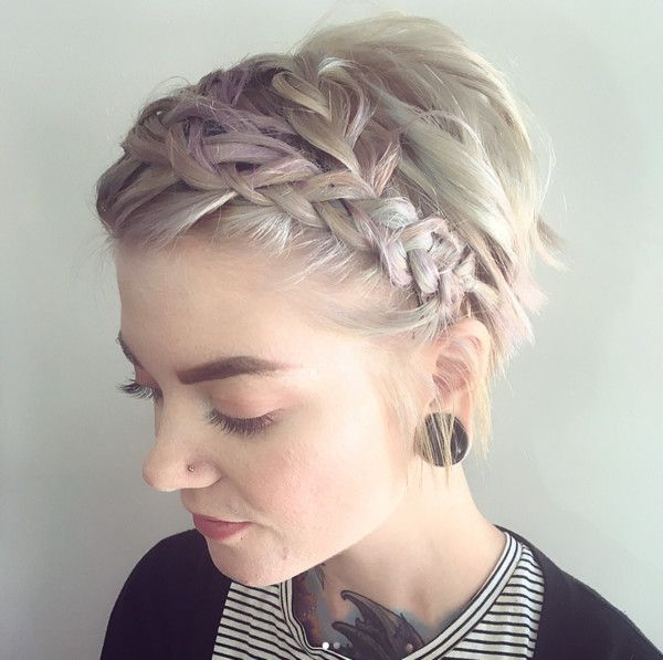 Perfectly Imperfect Messy Braids for Short Hair #messybraids