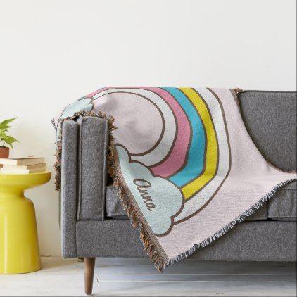 Kawaii Cute Magical Rainbow Throw Blanket Shower Gifts Diy Delectable Kawaii Throw Blanket