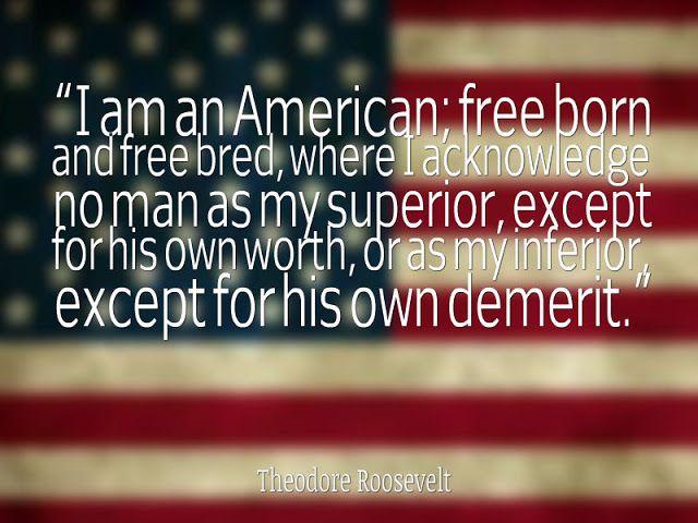 American Life Quotes Patriotic Quotes Theodore Roosevelt Quotes