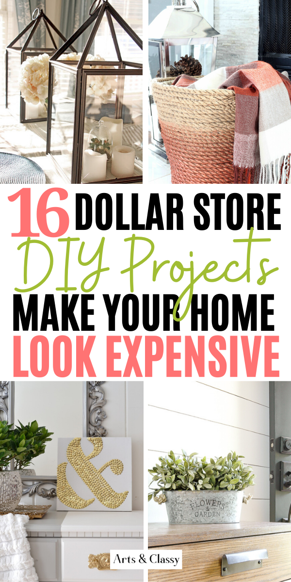 Photo of DIY High End Home Decorating on a Budget from The Dollar Store