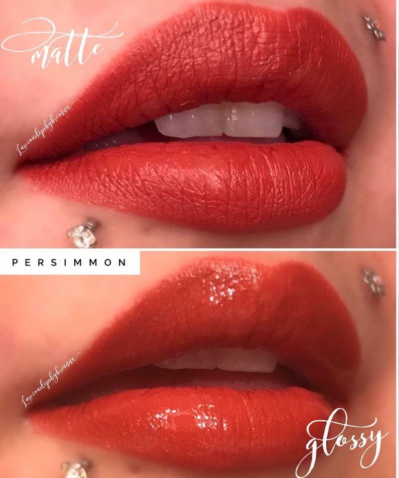 Persimmon Lipsense By Senegence Glossy Lips Vs Matte Lips Two