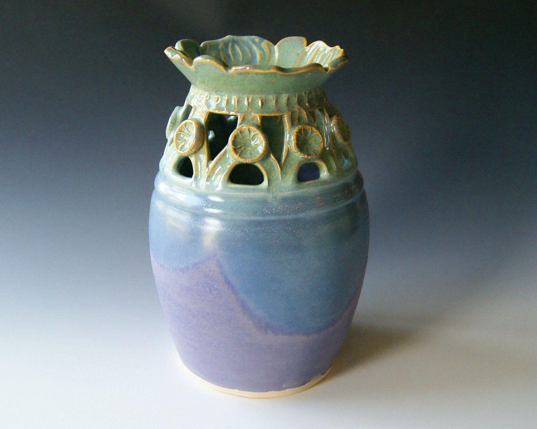 Pottery flower vase handmade wheel thrown ceramic pottery pottery flower vase handmade wheel thrown ceramic pottery lavender coral blue reviewsmspy