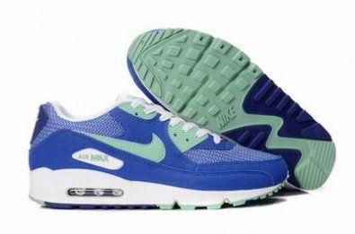Nike Air Max 90 nueva color azul / verde / blanco http://www.esnikerun.com/