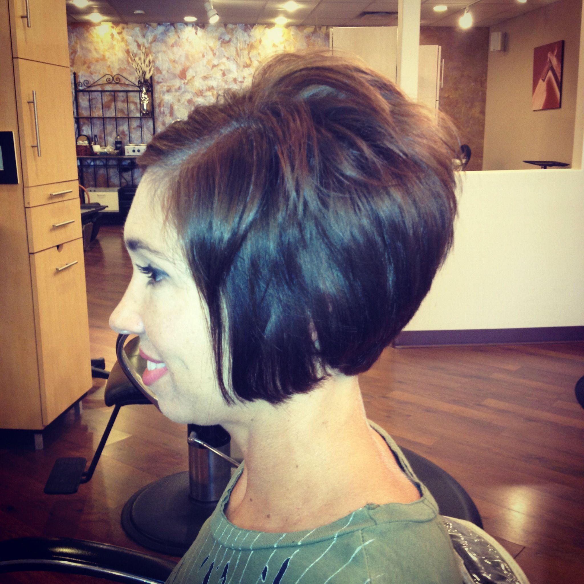 Surprising Short Stacked Bob Haircut By Debbie At Encounters Salon Haircut Short Hairstyles For Black Women Fulllsitofus