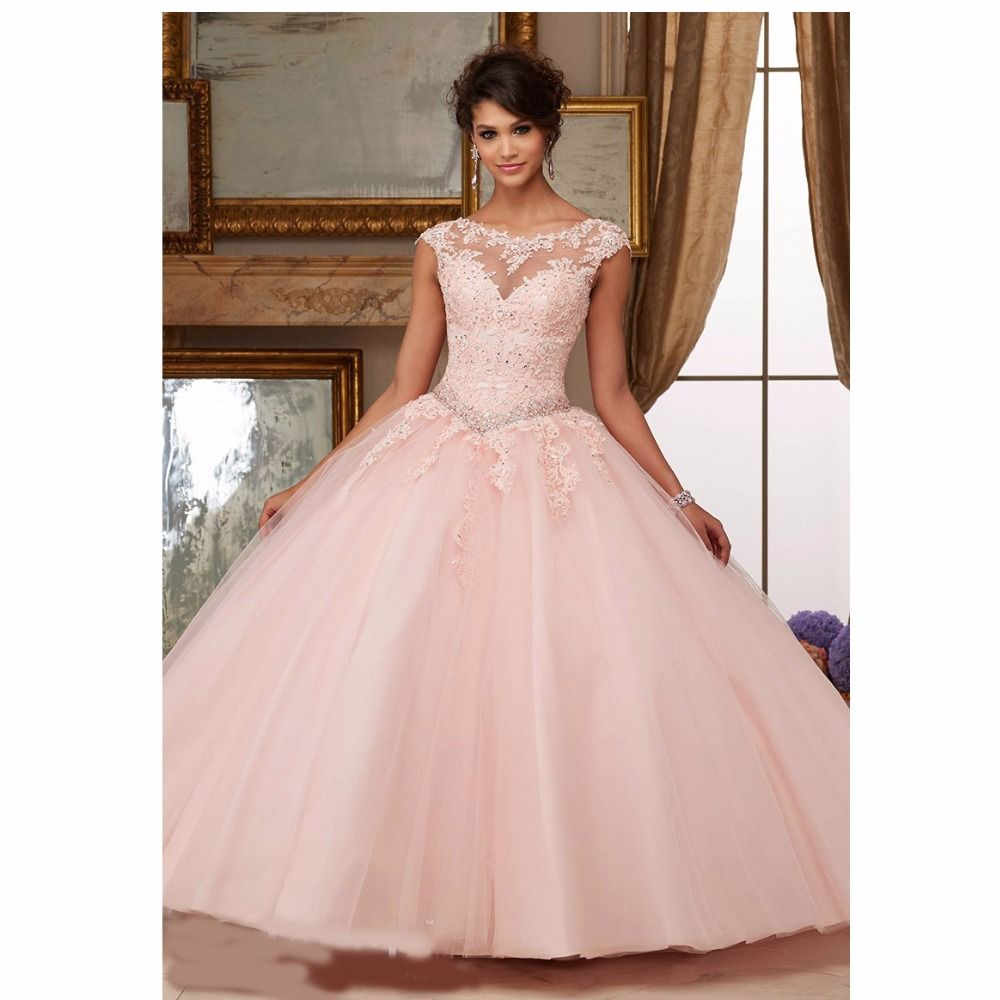 Find More Quinceanera Dresses Information about Cap Sleeves Scoop ...