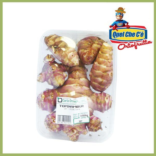 Topinambur. Ricco di vitamine può essere consumato cotto, crudo in insalata oppure nella bagna cauda. Confezione gr.500 a soli € 2,99!!!