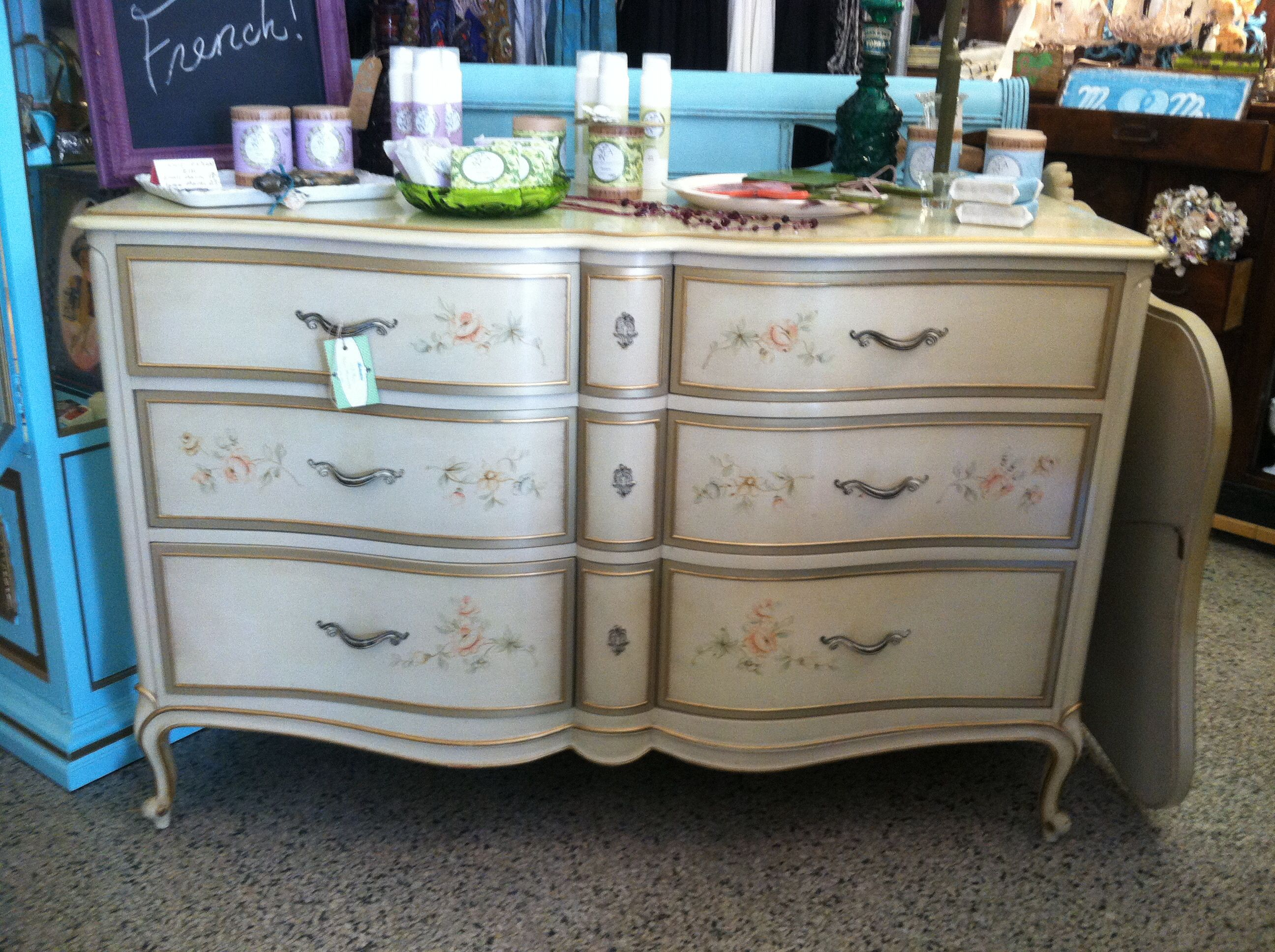 drexel bedroom set%0A Drexel French Touraine dresser and mirror