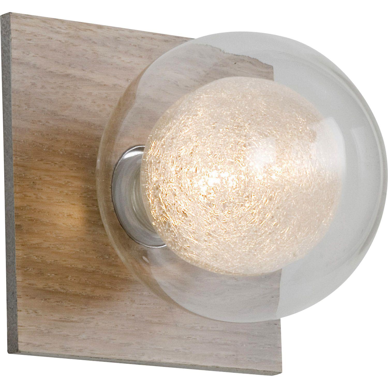Affordable applique venus halogne co x w g bois clair for Applique murale solaire exterieur avec detecteur leroy merlin
