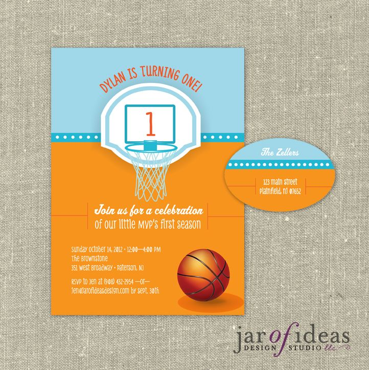 Jar of Ideas: Basketball First Birthday