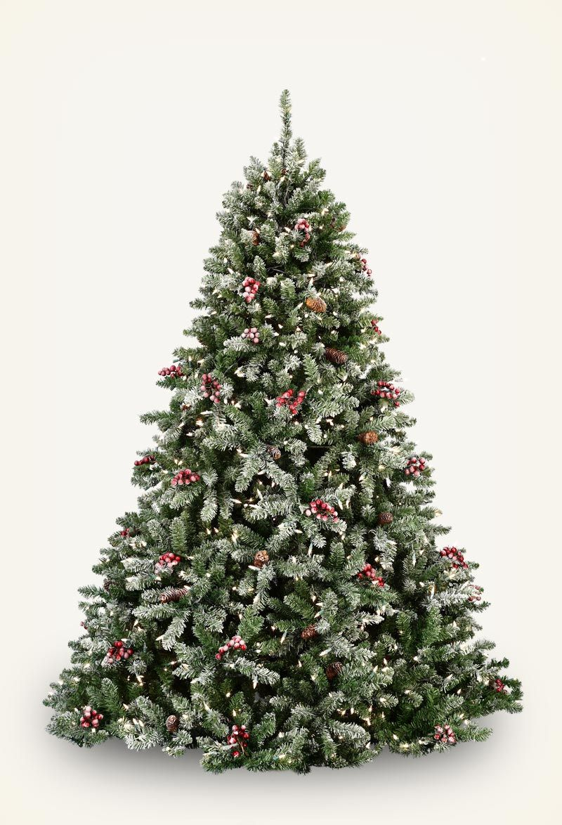 Artificial Christmas Trees Flocked christmas trees, Pre