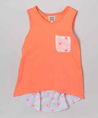 Coral Polka Dot Tank - Toddler & Girls