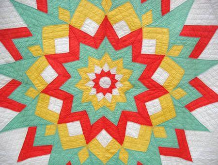 11 Point Starburst Quilt from Sharon's Antiques | Star Quilts ... : starburst quilt - Adamdwight.com