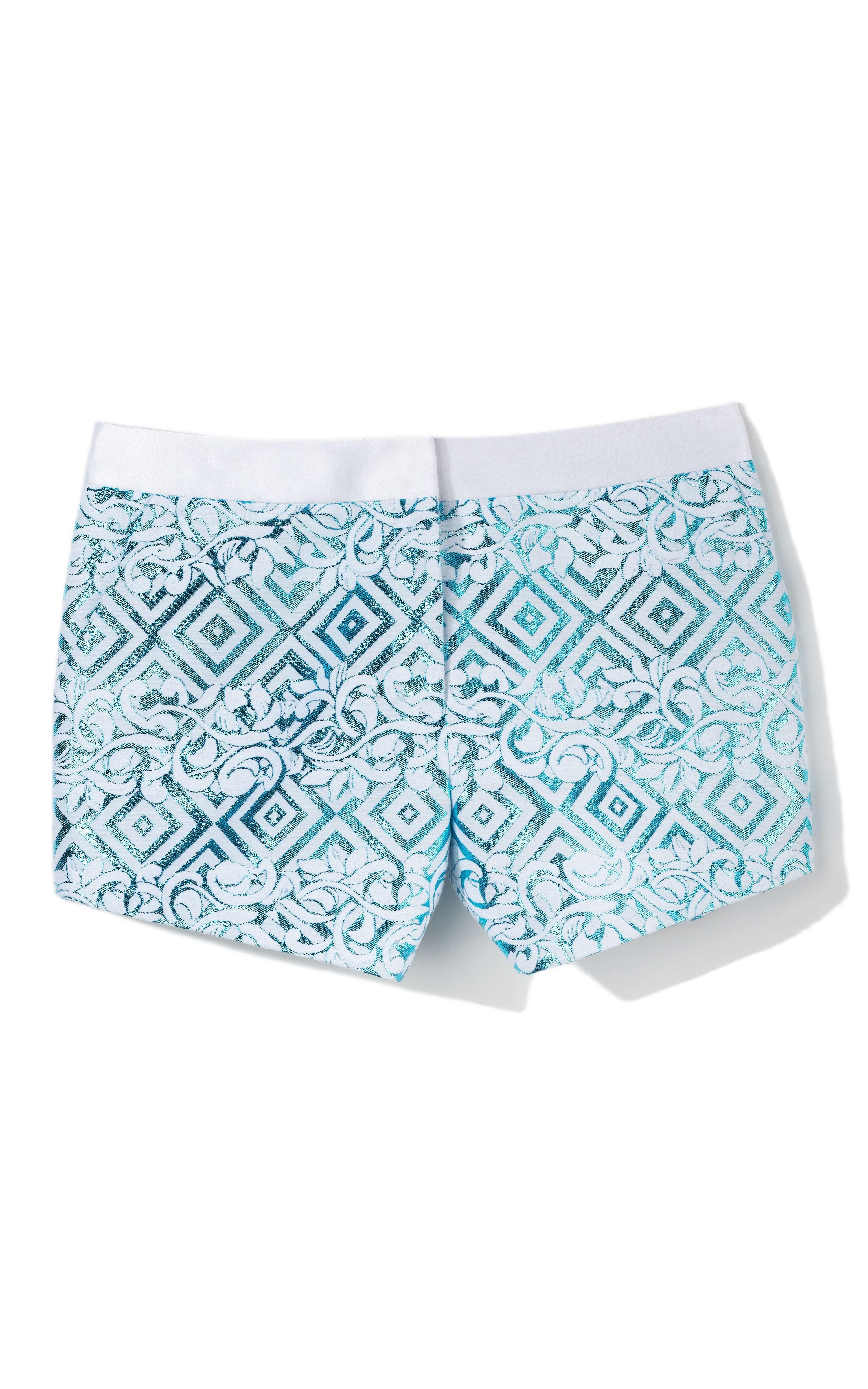 Prabal Gurung Metallic Track Shorts: I need these for outdoor season #sweet