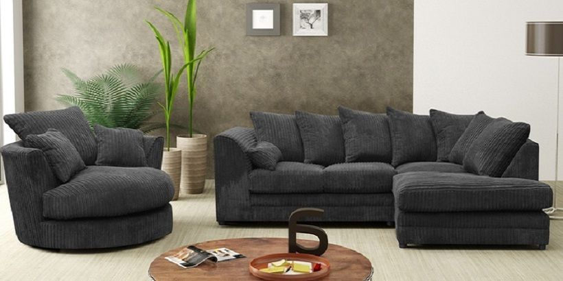 black corner sofa with swivel chair sofa design ideas pinterest rh pinterest com