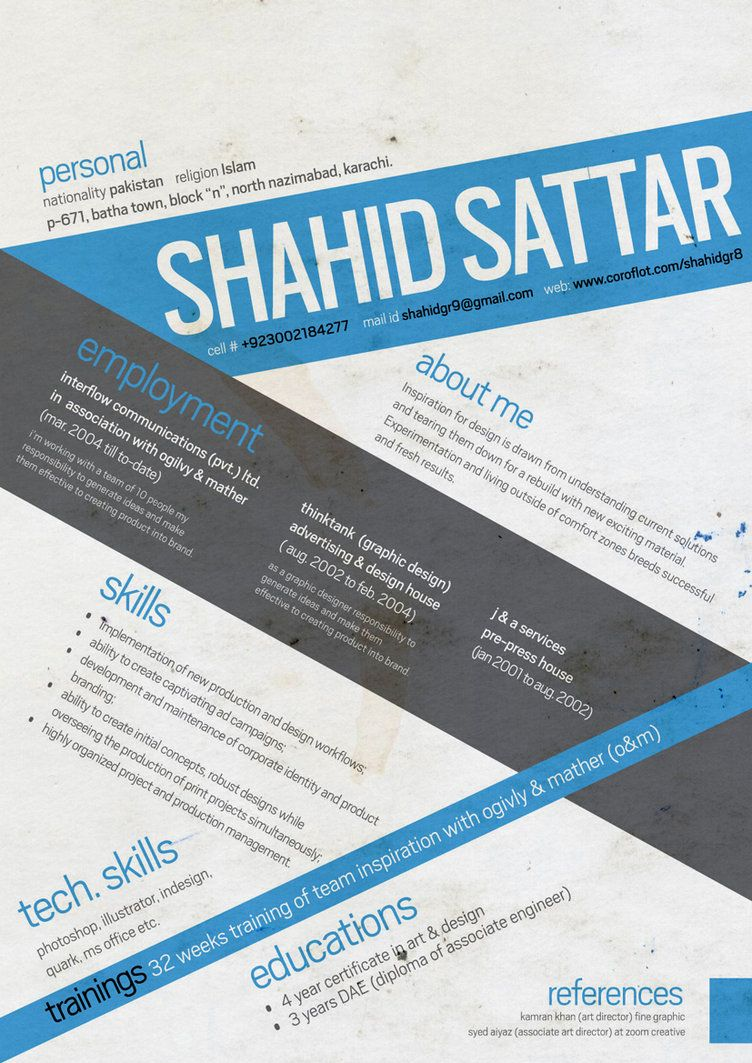 Graphic Design CV by ~shahidgr8 on deviantART | CVs, resumes, forms ...