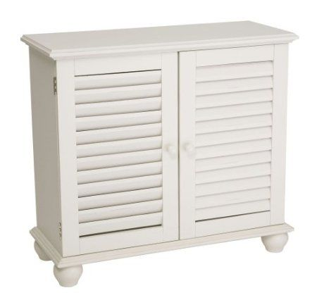 Amazon Com Cape Craftsman Shutter 2 Door Cabinet White Home Kitchen White Sideboard Cabinet Distressed Shutters