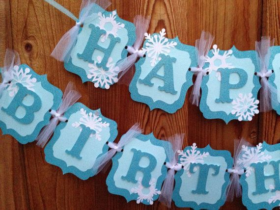 Frozen birthday banner package by CelebrationBanner on Etsy Frozen